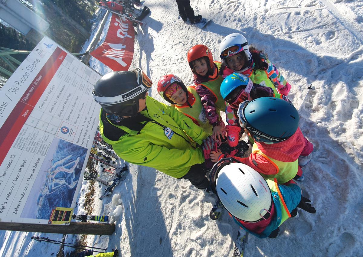 Škola skijanja za djecu Sljeme